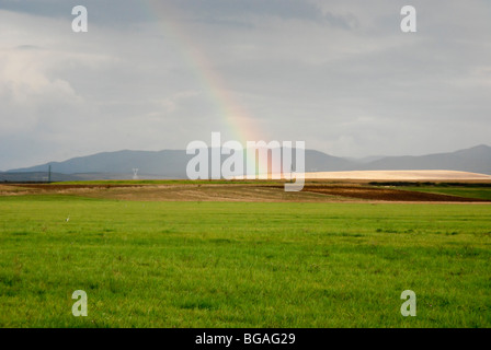 Romania Rainbow - Stock Photo