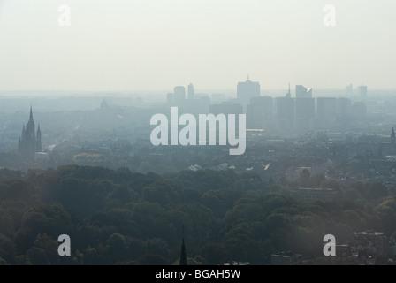 Above Brussels in Belgium - Stock Photo
