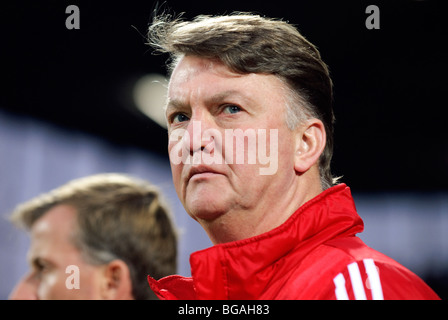 Portrait of Louis Van Gaal, head coach of FC Bayern Muenchen football team - Stock Photo