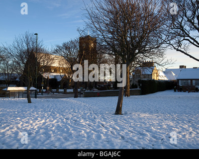 St Marks Church of England Marske by the Sea Cleveland UK in winter - Stock Photo