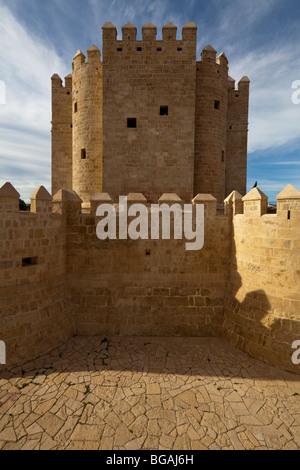 La Torre de la Calahorra,  Islamic fortress, Cordoba, Andalusia, Spain - Stock Photo