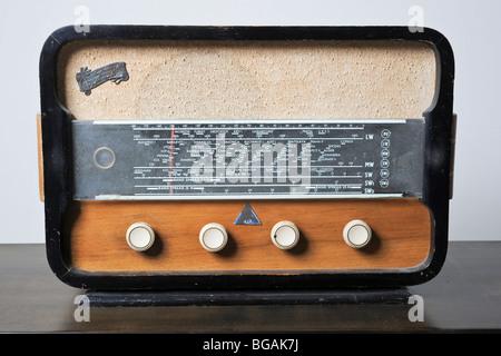 Cutout of an Israeli made Galai radio receiver on white background - Stock Photo
