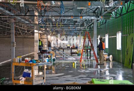 Commercial Industrial Building Interior Under Construction Stock ...