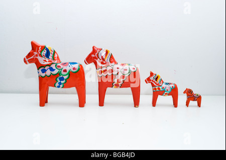 Dalecarlia horses - Stock Photo