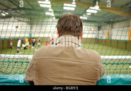 Photograph of football scout manager five a side coach trainer - Stock Photo