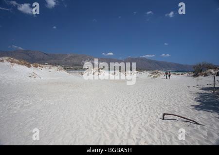 elafonissi beach crete island greece landscape - Stock Photo