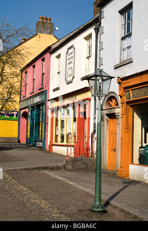 Ireland County Clare Bunratty Folk Park The Village Street denotes village life 19th century Ireland. - Stock Photo