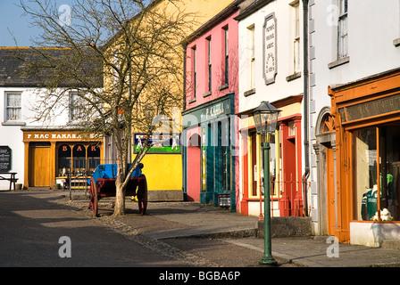 Ireland County Clare Bunratty Folk Park The Village Street denotes village life in 19th century Ireland. - Stock Photo