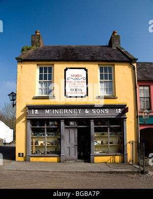 Ireland, County Clare, Bunratty Folk Park. The Village Street denotes life in 19th century Ireland, McInerney & - Stock Photo