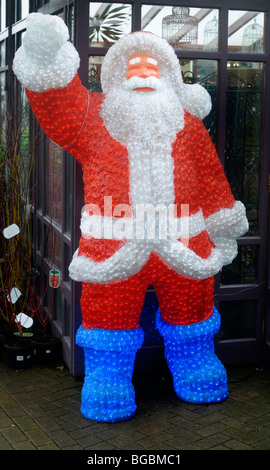 A full size blow up Father Christmas - Stock Photo