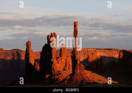 Totem Pole, Monument Valley, Navajo Tribal Lands, Utah - Stock Photo