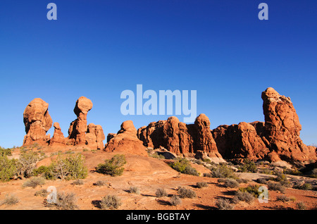 Garden of Eden, Arches National Park, Moab, Utah, USA - Stock Photo