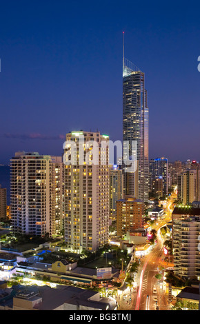 Surfers Paradise Boulevard Gold Coast Australia - Stock Photo