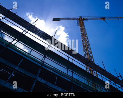 Tower Crane on construction site - Stock Photo