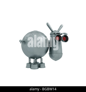 Metal toy. High-quality render of iron animal - Stock Photo
