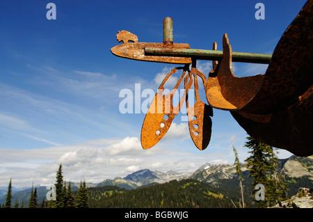 Native American iron chief, Mt. Revelstoke, Meadows in the Sky, Revelstoke National Park, British Columbia, Canada - Stock Photo