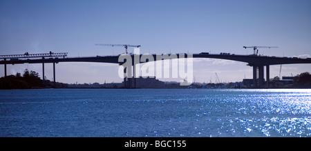 2nd Gateway Bridge construction Brisbane Australia - Stock Photo