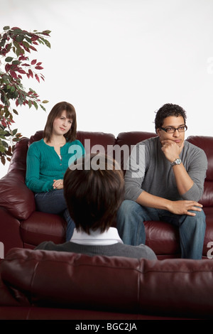 Couple in counseling - Stock Photo