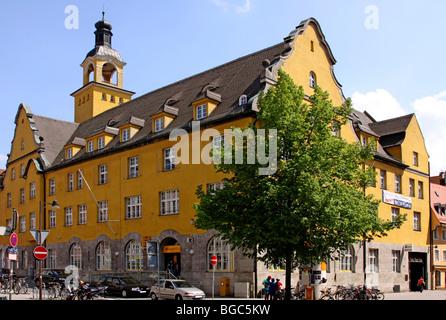 Post office, Milchstrasse street, Ingolstadt, Bavaria, Germany, Europe - Stock Photo