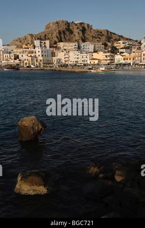 Port of Pigadia, island of Karpathos, Aegean Islands, Dodecanese, Aegean Sea, Greece, Europe - Stock Photo