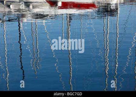 Marina in Icici near Opatija, Istria, Kvarner Gulf, Croatia, Europe - Stock Photo