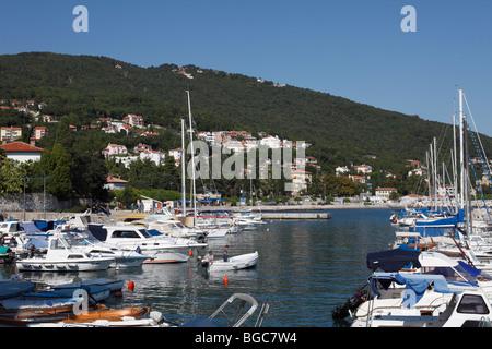 Port in Icici near Opatija, Istria, Croatia, Europe - Stock Photo