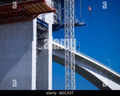 Construction of the second Gateway Bridge Brisbane Australia - Stock Photo