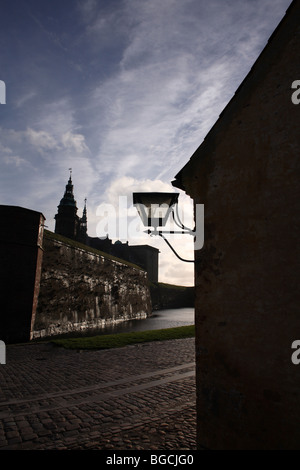 Kronborg Castle in Helsingør (in English also known as Elsinore) on the island of Zealand (Sjælland) in Denmark - Stock Photo