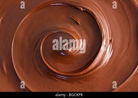 black chocolate swirl - Stock Photo