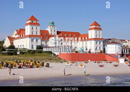 binz beach spa hotel kurhaus ruegen island baltic sea coast stock photo royalty free image. Black Bedroom Furniture Sets. Home Design Ideas
