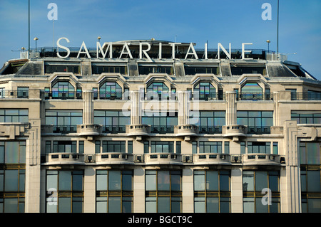 Art Deco Balconies Facade Of La Samaritaine Department Store Stock Phot