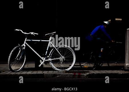 2 July 2009 Ghost bike in St John Street, London, in memory of cycling road fatality. - Stock Photo