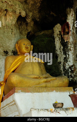 Laos; Luang Prabang; Buddha Image at the Lower Pak Ou Cave Stock Photo