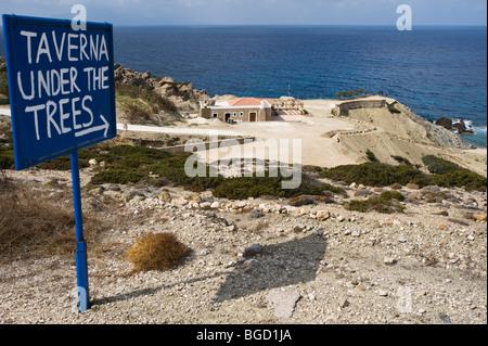 West coast of Karpathos island, Aegean Islands, Aegean Sea, Dodecanese, Greece, Europe - Stock Photo