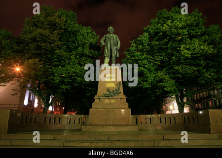 Monument to the Russian composer Mikhail Ivanovich Glinka (1804-1857) near Mariinsky Theater in Saint Petersburg, - Stock Photo