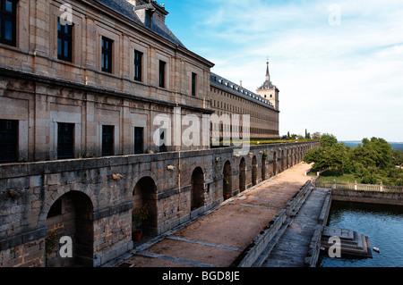 El Escorial in Madrid, Spain. UNESCO World Heritage Site. - Stock Photo