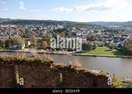 Saarburg at Saar river, Rhineland-Palatinate, Germany, Europe - Stock Photo