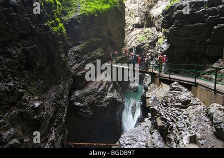 Breitachklamm gorge near Oberstdorf, Allgaeu, Bavaria, Germany, Europe - Stock Photo