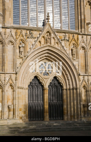 York Minster West Entrance, York, Yorkshire, England, United Kingdom, Europe - Stock Photo
