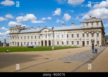 Queen Anne Court, Old Royal Naval College, Greenwich, London, England, United Kingdom, Europe - Stock Photo