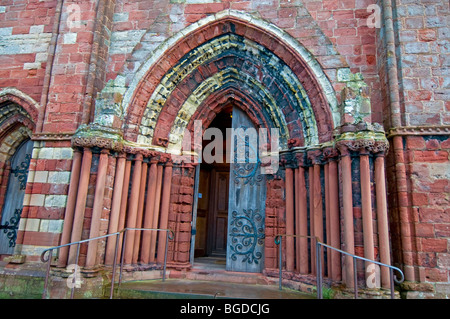 The Main Entrance to St Magnus Cathedral Kirkwall Mainland Orkney Highland Region Scotland.  SCO 5654 - Stock Photo