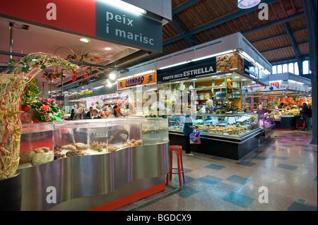 Market, Gracia district, Barcelona, Catalonia, Spain, Europe - Stock Photo