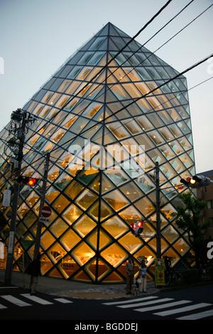Prada store, designed by Herzog & de Meuron, Tokyo, Japan, Asia - Stock Photo