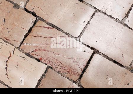 Old stone pavement in the old town of Zadar, Dalmatia, Croatia, Europe - Stock Photo
