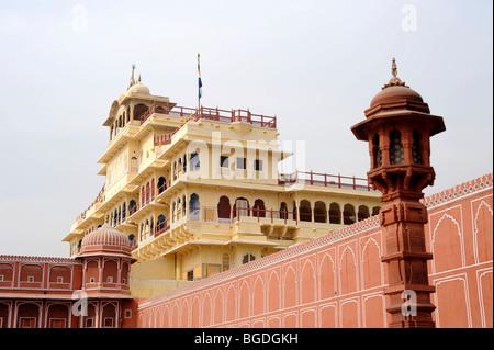 Chandra Mahal, City Palace, Jaipur, Rajasthan, North India, India, South Asia, Asia - Stock Photo