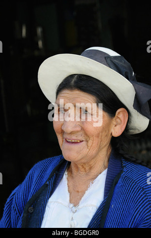 Old woman, Santa Ana, Ayacucho, Inca settlement, Quechua settlement, Peru, South America, Latin America - Stock Photo