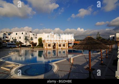 Naxos Royal Hotel, St. George Beach, Naxos, Cyclades, Greece, Europe - Stock Photo