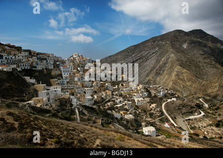 Olympos, island of Karpathos, Aegean Islands, Dodecanese, Aegean Sea, Greece, Europe - Stock Photo