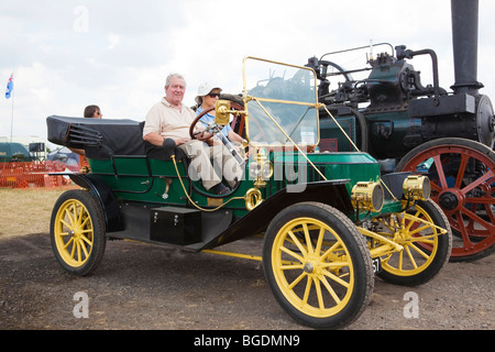 Stanley steam powered car built in1910 on show at Rougham Country Fair - Stock Photo