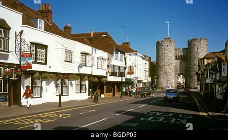 UK, England, Kent, Canterbury, St Dunstan's Street, Westgate, built by Archbishop Sudbury in1380 - Stock Photo